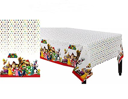 Image Unavailable. Image not available for. Color Super Mario Plastic Table -Cover ...  sc 1 st  Amazon.com & Amazon.com: Super Mario Plastic Table-Cover Birthday Decoration ...