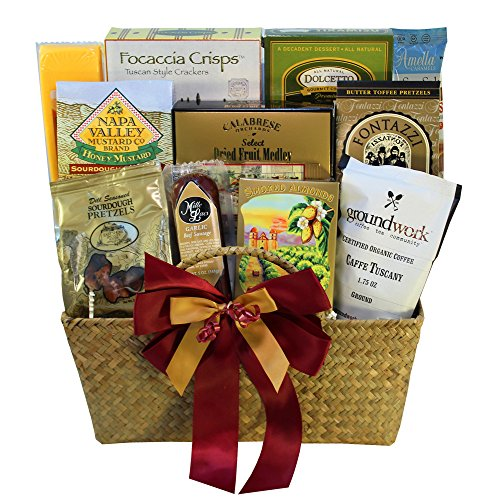 The Finer Things Gourmet Food and Snacks Gift Basket (Chocolate Option)