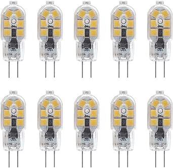 G4 Bombilla LED, 2W, 200LM, Equivalente a 20W Bombillas Halógenas ...
