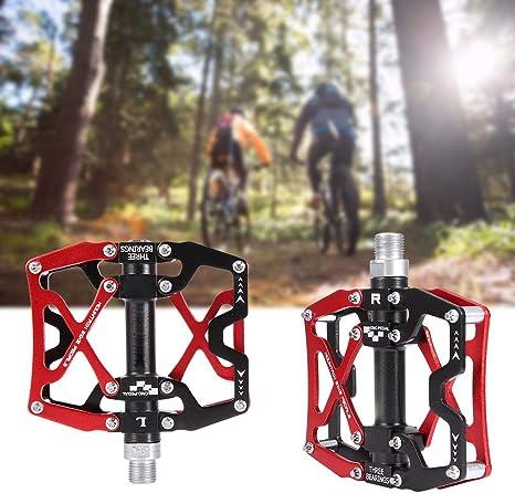 wosume Pedales de Bicicleta de montaña, Pedales Ligeros de ...