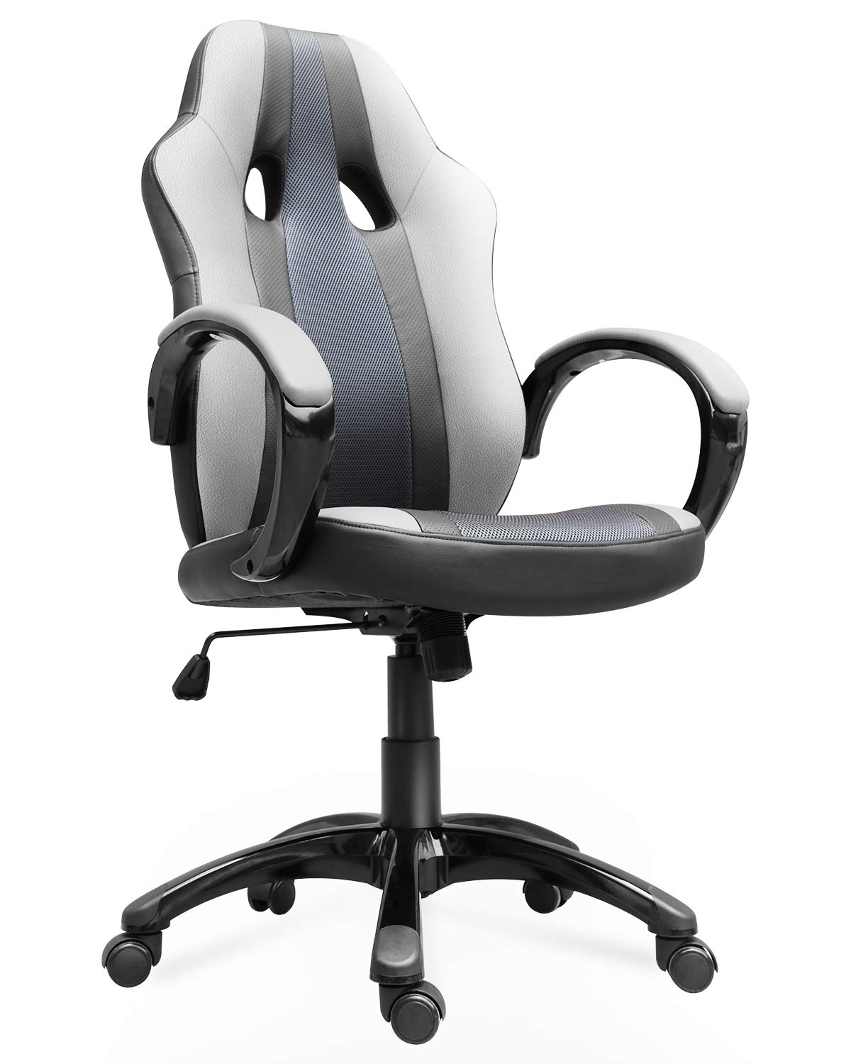 Smugdesk Office Chair, High Back Ergonomic Gaming Desk Chairs for Computer with Lumbar Support, Bonded Leather, Adjustable Swivel Comfortable Rolling Chair by SMUGDESK