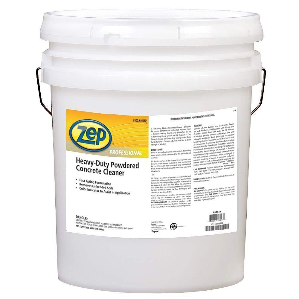 Powdered Concrete Floor Cleaner, Orange by Zep Professional (Image #1)