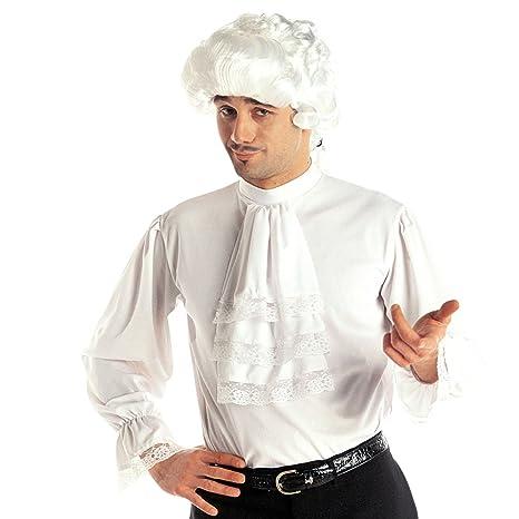 Amakando Camicia Stile Medioevo Blusa a Balze Bianca M L 50 52  Abbigliamento Medievale a41c4068bb6