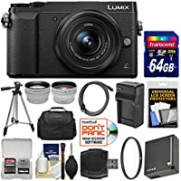 Panasonic Lumix DMC-GX85 4K Wi-Fi Digital Camera & 12-32mm Lens (Black) with 64GB Card + Case + Battery & Charger + Tripod + Tele/Wide Lens Kit Explained Review Image
