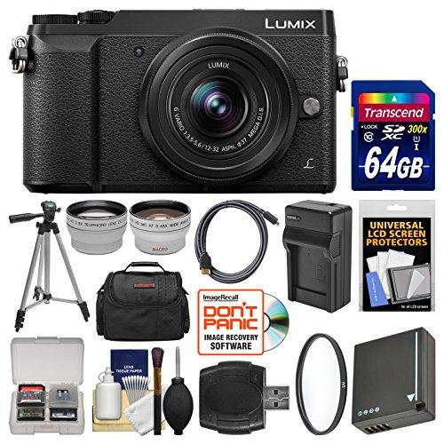 Panasonic Lumix DMC-GX85 4K Wi-Fi Digital Camera & 12-32mm L