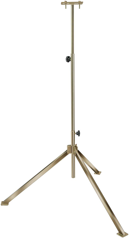 Brennenstuhl 1170610 Pied telescopique BS 250 en Acier Galvanis/é, Hauteur jusqu/à 2,5 m, 2 Poign/ées fournies Argent