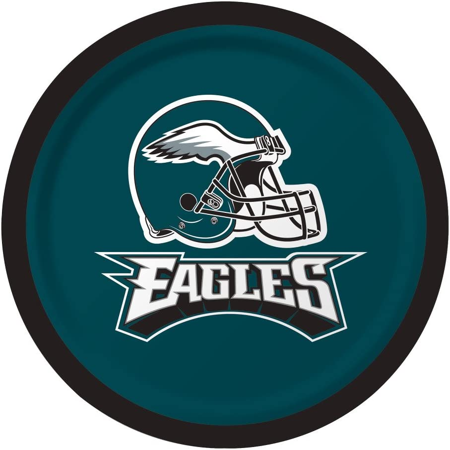 Creative Converting Officially Licensed NFL Dessert Paper Plates, 96-Count, Philadelphia Eagles