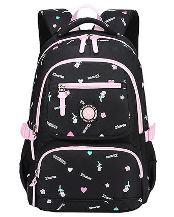 4 PCS Set Kinder Mädchen Schulrucksack Schulranzen Schultasche Schule Rucksack