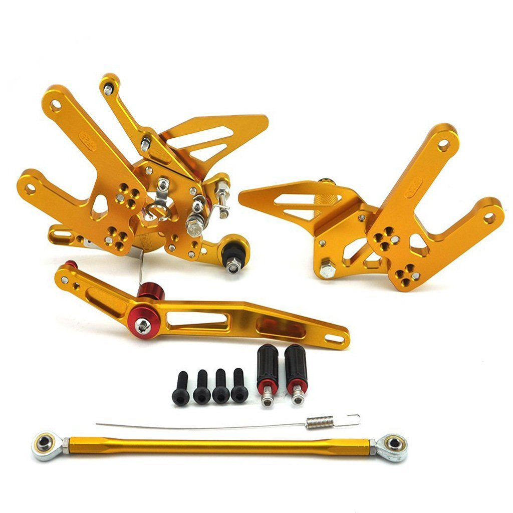 Adjustable Rearsets Rear Set Footpeg For Yamaha YZF R6 2006-2016 (Gold) CNC0060