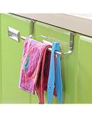 Haresle Perchero de Puerta de Armario de Cocina té toallero Accesorio de Soporte 23 cm