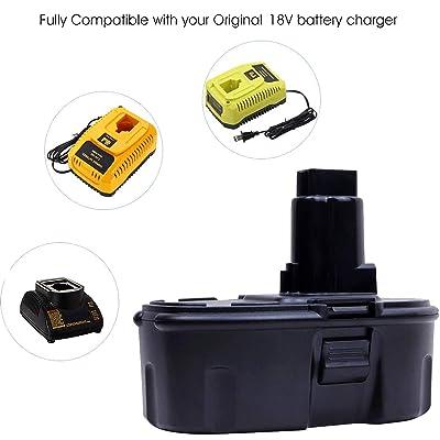 Details about  /For Dewalt 18Volt XRP Extended Battery DC9096-2 DC9098 DC9099 DW9096 Drill 3.6Ah