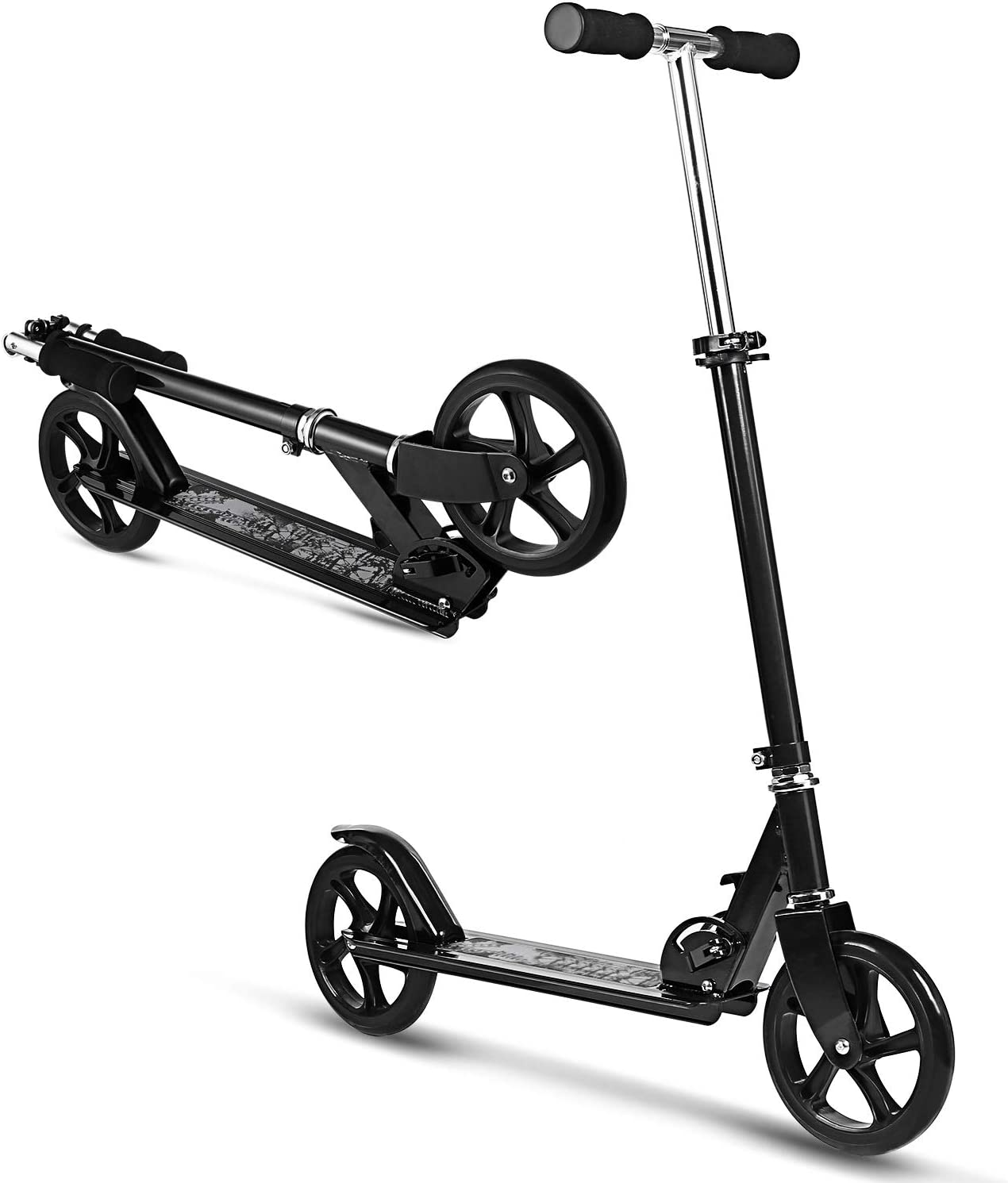 WeSkate Scooter for Adults Teens, Big Wheels Scooter Easy Folding Kick Scooter Durable Push Scooter Support 220lbs Suitable for Age 8 Up Teens Adults