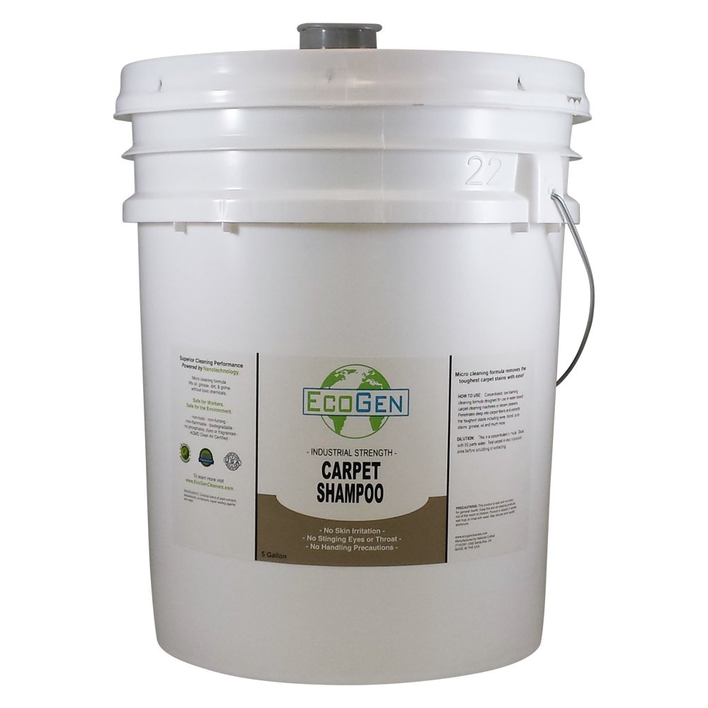 EcoGen ECOCSH-B Professional Strength Carpet Shampoo, Concentrated, 5 Gallon Bucket by EcoGen (Image #1)