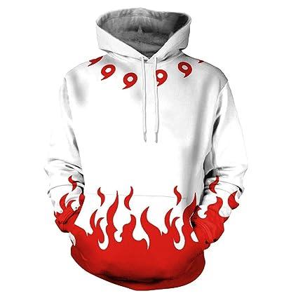 Ruiyue Sudadera 3D Anime Wish Explosion Sweater Fire Red Red Sudaderas Deportivas para Mujer Unisex Hombre