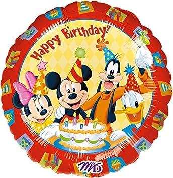 Folienballon Happy Birthday Mickey Mouse Fur Kindergeburtstag