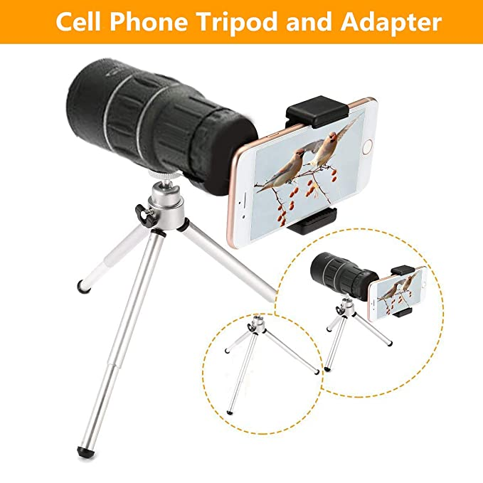 Monocular de Alta Definici/ón 16x52 Telescopio de Alta Potencia para Tel/éfono M/óvil