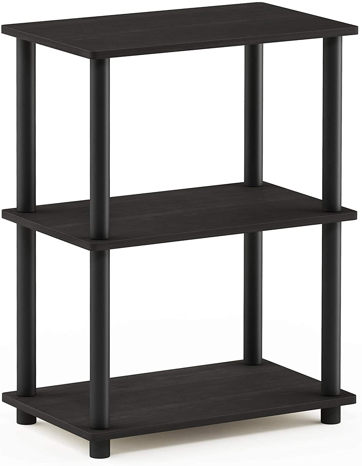 one size Furinno Toolless Shelves Wood Espresso//Black