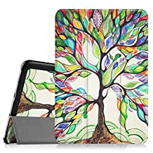 Fintie Samsung Galaxy Tab S2 8.0 Smart Shell Case - Ultra Slim Lightweight Stand Cover with Auto Sleep/Wake Feature for Samsung Galaxy Tab S2 Tablet (8IN Wi-Fi SM-T710 / LTE SM-T715), Love Tree