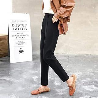 AKDYH Pantaloni da Donna Pantaloni Allentati Invernali con Tasche E Pantaloni da Donna