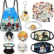 The Promised Neverland Merch, Backpack, Stickers,Keychain,Phone Holder,Pins, Masks,Bracelet