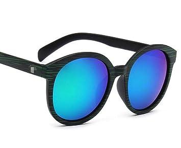 Trend Sonnenbrillen Retro Holz Farbe Gläser Große Boxen Farbfilm Quecksilber Sonnenbrillen,A3