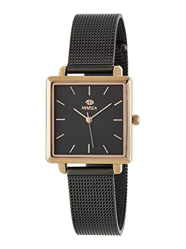 Reloj Marea Analógico Mujer Cuadrado B41247/3 Armis Milanesa Acero en Color Rosegold y Negro: Amazon.es: Relojes