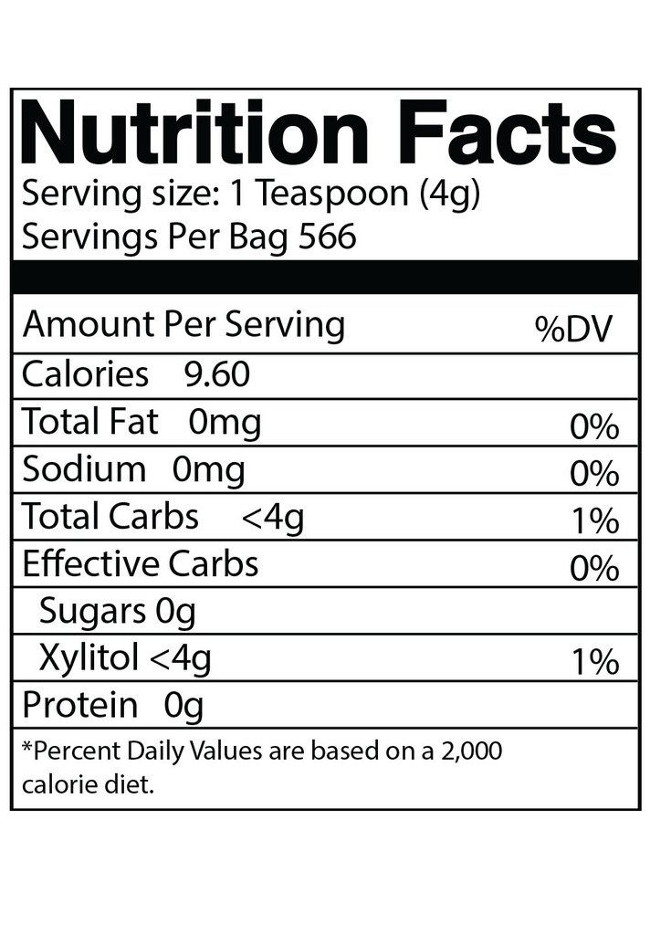 DureLife Birch XYLITOL Sugar Substitute 5 LB Bulk Size (80 OZ) Made From Pure Birch Xylitol In The USA , NON GMO - Gluten Free - Kosher , Packaged In A Large Resealable zipper lock Stand Up Pouch Bag by DureLife (Image #3)