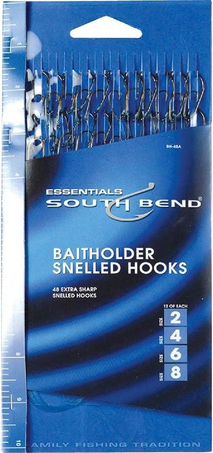 24 Packs HT Baitholder Snelled Hooks Size 8