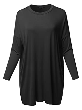 c94cb746d0e Women s Casual Stylish Solid Loose Fit Dolman Long 3 4 Sleeve Tunic ...