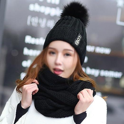 Sciarpe Xiaolin- Cappello Inverno Thicker Berretto Due Pezzi Moda Selvaggio  Alunno Tenere Caldo Cappello Lavorato A Maglia Calda all aperto (Colore    3)  ... 1adb8f3e46e0