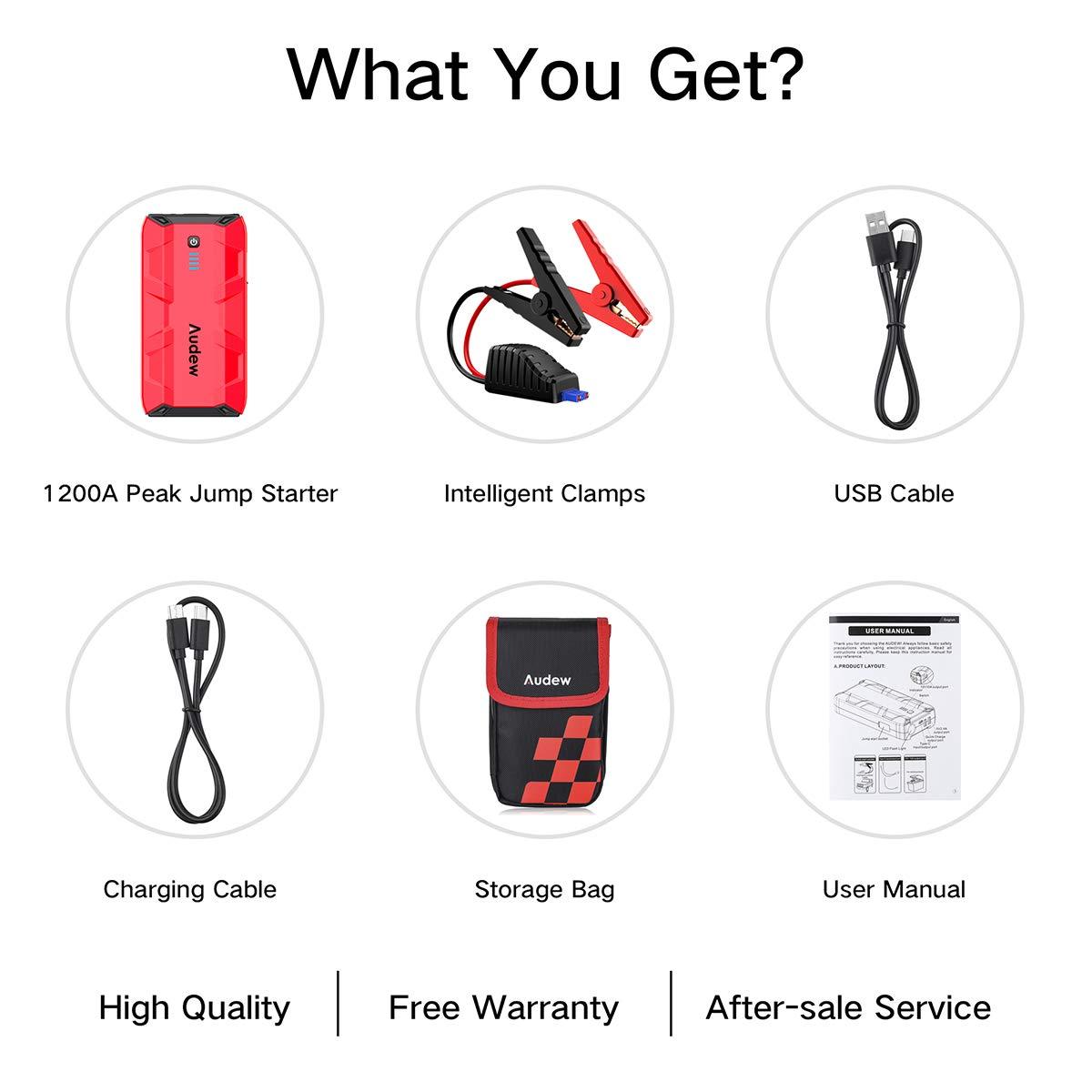 Audew Avviatore portatile per auto Jump Starter