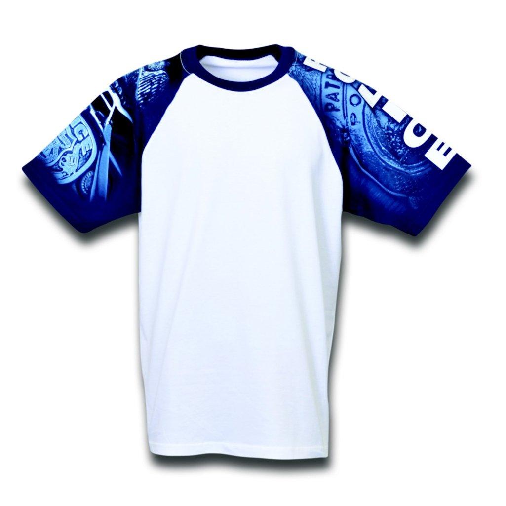 【人気急上昇】 警察Designer Tシャツから日常生活 XXX-Large ホワイト B00CIYGOMY/ブルー B00CIYGOMY, CAROL 米ぬか配合うんち袋専門店:8c540292 --- eastcoastaudiovisual.com
