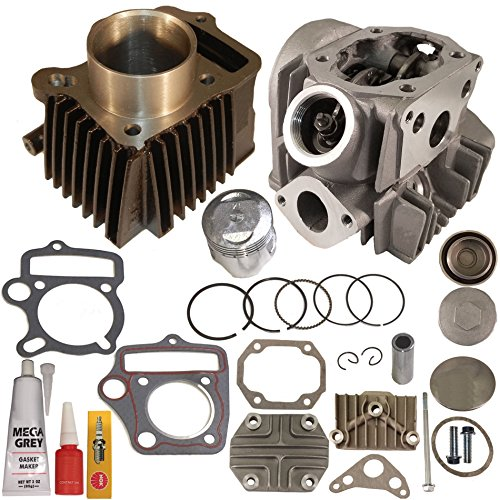 ZOOM ZOOM PARTS FITS HONDA CRF 70 CRF70F CRF70 CYLINDER PISTON RINGS GASKET CYLINDER HEAD 2004-2008