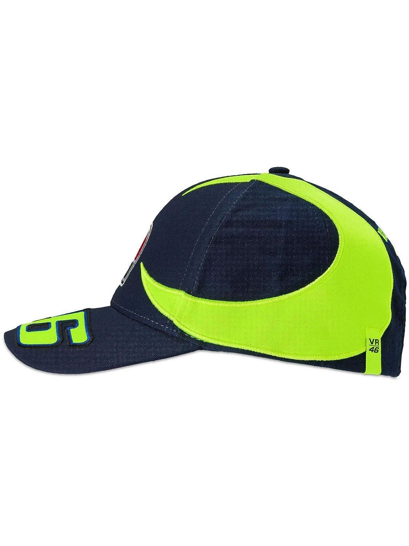 Valentino Rossi Blue Sole E Luna Curved Peak Snapback Cap