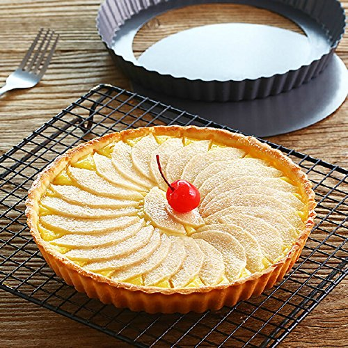 Fashion 1X New Pie Cake Tart Removable Non Stick Bottom Baking Pastry Mold Pan 9 INCH