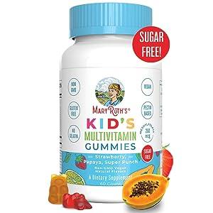 Vegan Kids Multivitamin Gummies by MaryRuth - Organic Ingredients - Immune Boost - Methylfolate - Sugar Free - Non-GMO Vitamin Chewables 60ct