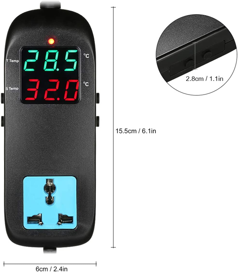 Industrial Chiller UK Plug Refrigerator Yudanny Temperature Controller Electronic Thermostat Smart Digital Display Temperature Controller for Green House