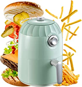 Air Fryer, 2L 800-Watt Electric Hot Air Fryers Oven & Oilless Cooker for Roasting, Appointment Timing, Controllable High Temperature Nonstick Basket, BPA Free, Mint Green