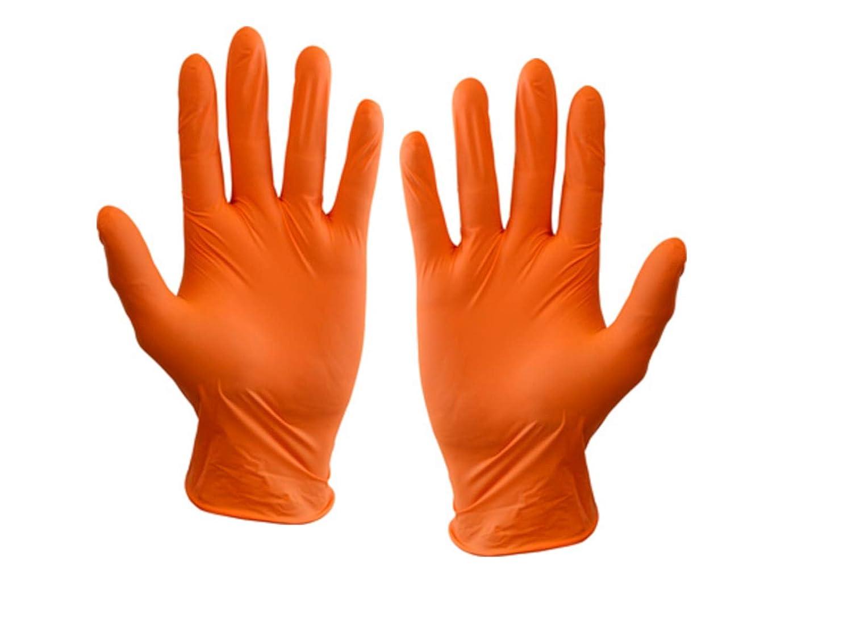 オレンジニトリル使い捨て手袋 - サイズ小 - コンフォートフィット - ラテックスフリー/パウダーフリー - メカニックタトゥータトゥークリーナー - 100パック  B07N6F25BS