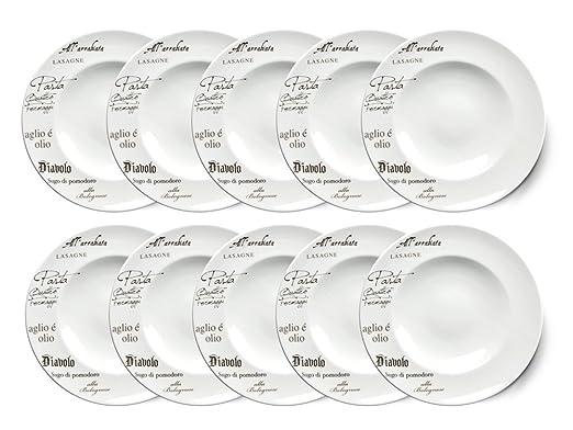 Juego de 10 Creatable - Europa Gustoso - Pasta Plato 27 cm ...