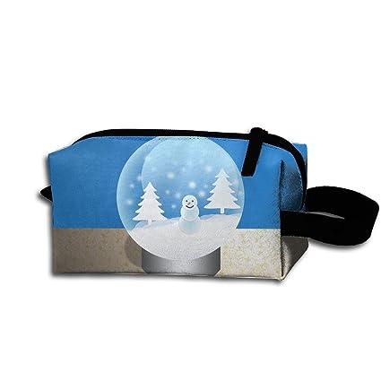 a6979fad831b Amazon.com: Christmas Snow Globe Portable Pencil Bag Coin Purse ...