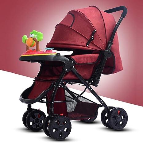 HSDDA Carro de bebé Ligero Cochecito de bebé Cochecito de bebé con Disco de música,