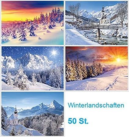 """/""""VIER JAHRESZEITEN/"""" 20 Motive x 5 St 100-er Postkarten-Set Natur//Landschaften"""