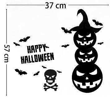 Squelette Dessin Halloween.Citrouille Halloween Paroi Autocollant Fantôme Festival Horreur