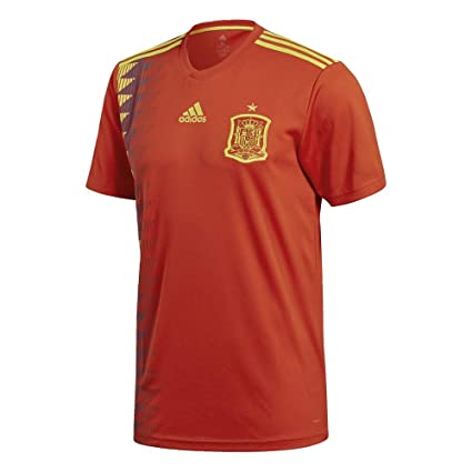 adidas Spain FC 2017 18 Home Short Sleeve Jersey - Adult - Red Gold 6d15c61b8