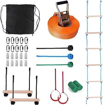 Amazon.com: Leofit Ninja Obstacle Curso para niños de 6.0 ft ...