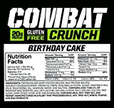 Muscle Pharm Combat Crunch Supplement, Birthday Cake, 2.22oz.- 12 Count