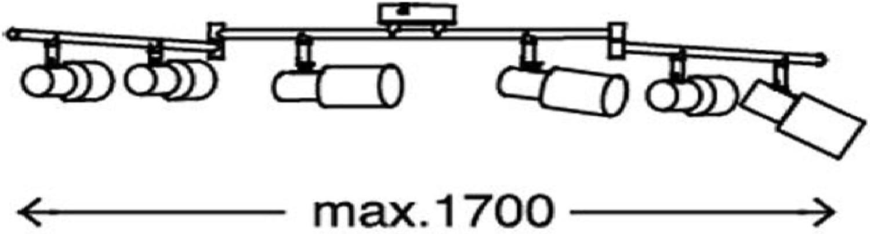 spot orientabili e girevoli Trango moderno Plafoniera a LED 6-flammig 6x lampadine LED plafoniera TG2007-06 metallo cromato con vetri incl faretto a soffitto