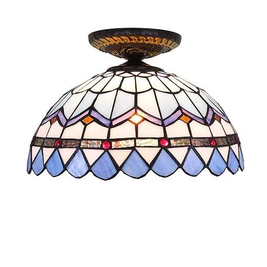 DengDD Europeo de UVA marrón Tiffany de Color de Cristal lámpara ...