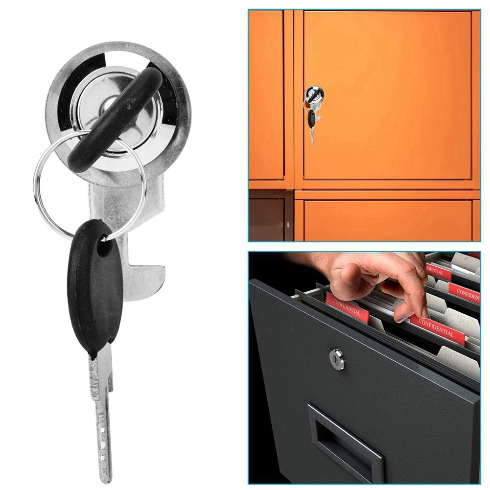 25 Armoires de classement serrure bureaux de serrure de tiroir de serrure de porte de meuble de bureau Camlock avec 2 cl/és faites dalliage de zinc